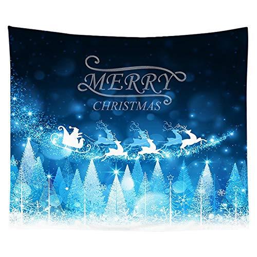 Tapiz de navidad pintura de acuarela impresión de árboles de navidad tela colgante de interior decoración de la pared tela de fondo tela a15 130x150cm