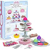 Sophia's 18' Doll Dessert Set with Desserts, Serving Plates, Utensils and Trays (39-Piece)