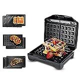 Hchao 3-in-1-Sandwich-Toaster, Waffelmacher, Panini-Hersteller, Toastie-Hersteller mit abnehmbaren...
