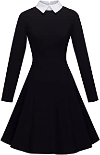 HOMEYEE Women's Doll Collar Wear to Work Swing A-Line Party Casual Dress A016