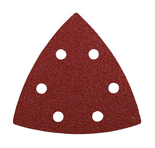 kwb Quick-Stick Schleif-Dreiecke – für Delta-Schleifer, K 80, 93 mm, Edelkorund, für Holz und Metall, gelocht mit Klett (20 Stk. - Profi-Sparpack)