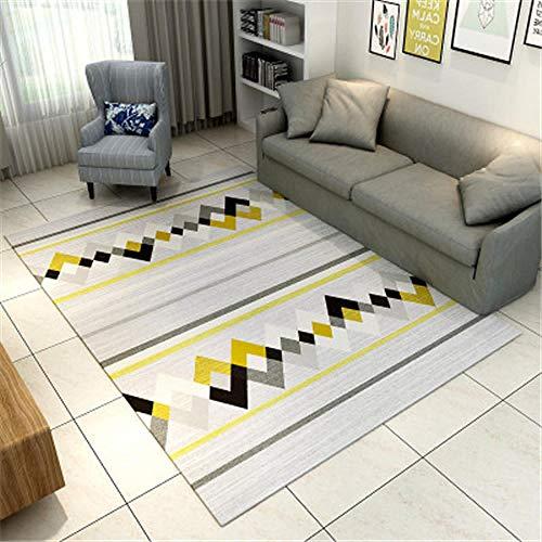 HXJHWB Alfombra habitación Lavables - Moderna y Sencilla Alfombra Impresa en 3D, Sala de Estar, Estudio, Oficina, Hotel, lavable-160cmx230cm