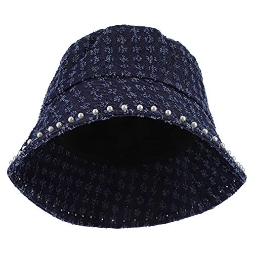 Amosfun Sombrero con forma de cubo para el sol, para verano, viajes, para mujeres y niñas
