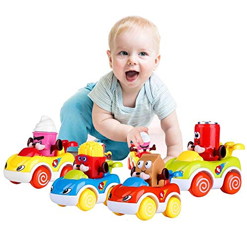 Sale!! LUKAT 1 Year Old Boy Gifts, Toddler Toy Cars Set of 4 Friction Powered Cars, Pull Back Cars C...