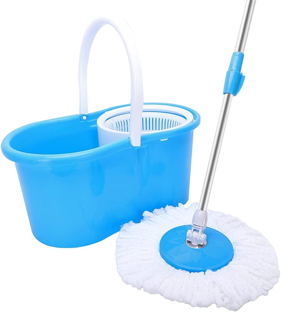 yofishop Lowest price challenge 360°Spin Mop with Bucket 1 year warranty and Comm for Dual Heads