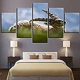 JINGMEI Canvas HD Picture 5 Combinación De Pared Animal Goat Antelope Dormitorio Sala De Estar Habitación De Los Niños Cartel De Regalo Decoración De Arte De Pared