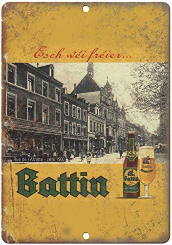 VinMea Blechschild, Vintage-Retro-Design, Aluminium, Motiv: Battin Beer Man Cave Decor 25,4 x 35,6 cm