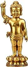 Buddha Statue Decoration Hand Crafted Buddha Statue,Fine Carving Religious Idol, Antique Brass Sculpture,Vintage Decorativ...