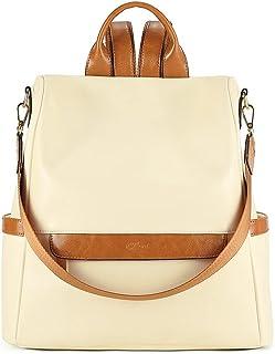 CLUCI Rucksack für Damen, modisch, Leder, groß, Designer-Reisetasche, Schultertasche, Handtasche