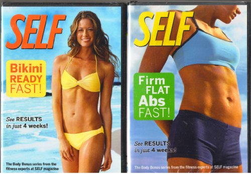 Self: Bikini Ready Fast , Self : Firm Flat Abs Fast : Self Exercise DVD 2 Pack