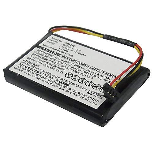 subtel® Batería premium compatible con TomTom 4EM0.001.02, 4ET0.002.02, 4ET03, XL Holiday, XL IQ Routes Live, XL IQ Routes Regional / Europe Live (1100mAh) 6027A0106801 bateria de repuesto, pila reemplazo, sustitución