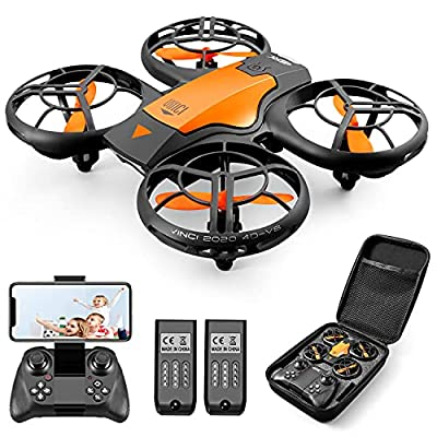 4DRC V8 Mini Drone With 720P HD Camera For Kids, FPV 2.4G WiFi, Upgraded Propeller Guard, 3D Flip, Combat Mode, Induction Of Gravity, Altitude Hold, Headless Mode, One Key Take-Off/Landing, Toy Gift
