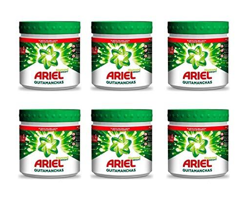 Ariel Quitamanchas Diamond Bright, para Ropa de Color, Protección del color, en Polvo, Sin Lejía, con Dosificador y Aplicador. Pack de 6 x 500 g