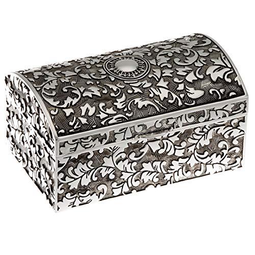 ZILVERKAN sieradendoos antiek 5x8 cm zilver geplateerd verzilverd. Voor geliefde sieraden zoals ringen, kettingen, oorbellen en armbanden.