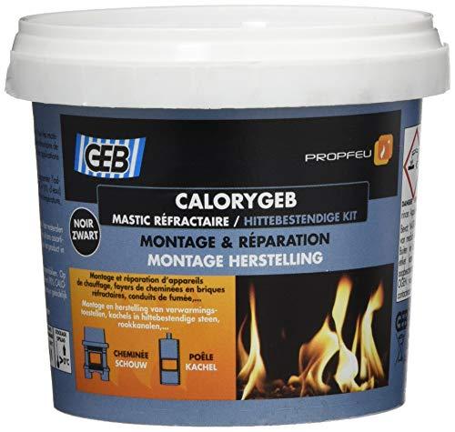 GEB 103512 Calorygeb Mastic réfractaire Boîte N° 2 600 g - Noir