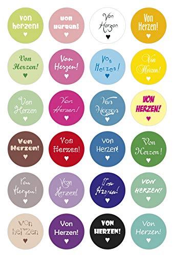 cute-head - Scrapbooking für Kinder in Multicolor 24, Größe M » Ø 40 mm | 24 Sticker