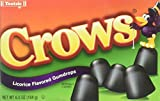 Crows Licorice Flavored Gumdrops (Pack of 3) 6.5 oz Theater Boxes