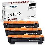 SMARTOMI - 3 Cartuchos de tóner Negro compatibles con Cartuchos TN1050 para impresoras Brother de Las Series HL-1110 HL-1112 HL-1212 HL-1210 DCP-1510 DCP-1610 DCP-1612 DCP-1512 MFC-1810 y MFC-1910