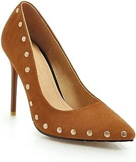 HENG-XIN Rivet Pointed High Heels