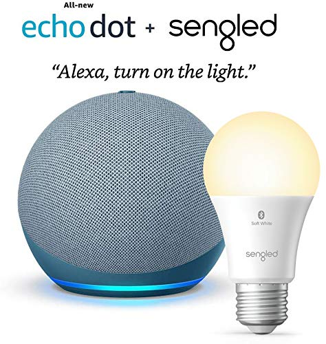 All-new-Echo-Dot-4th-Gen-Twilight-Blue-bundle-with-Sengled-Bluetooth-bulb