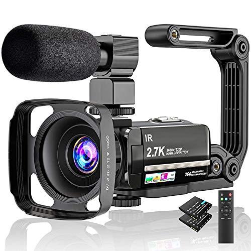 Video Camera 2.7K Camcorder Ultr...
