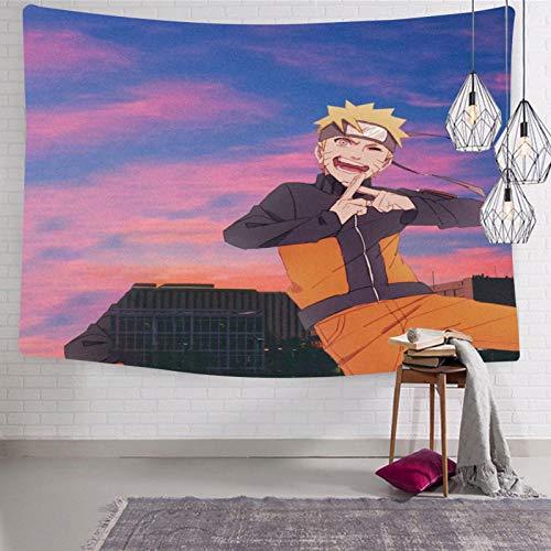 3354 Na-ru-to - Tapiz para colgar en la pared, diseño de anime 2, suave y divertido para dormitorio de 188 x 222,5 cm