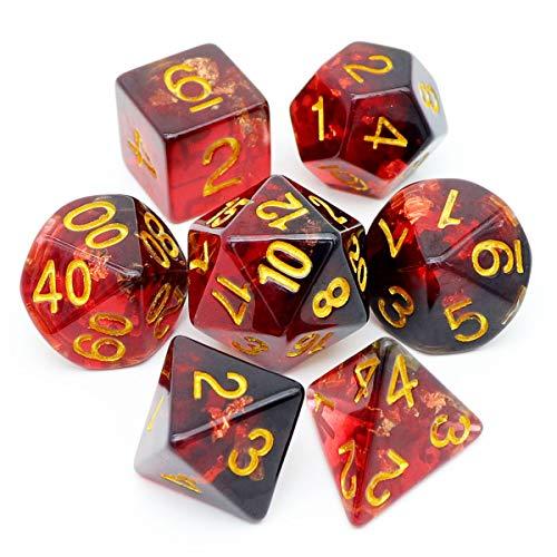 Haxtec DND Dice Set 7PCS Polyhedral D&D Dice for...