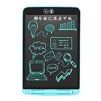 電子メモ帳 電子メモパッド 12インチ 部分消し 電子ノート 大画面モデル LCDタブレット ワンタッチ消去 手書きパッド 電池交換可能 デジタルペーパー 消去ロック機能搭載 難聴補佐筆談ツール,ブルー