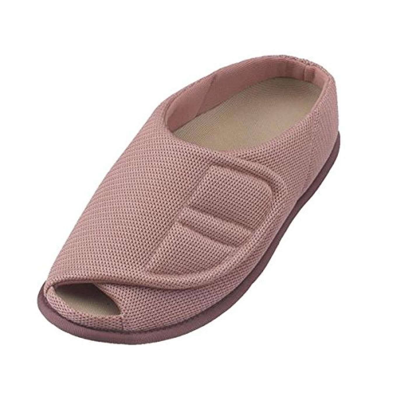 フィルタありがたい窒素介護靴 室内用 オープンルームメッシュ 2228 両足 徳武産業 あゆみシリーズ /L (23.5~24.5cm) ピンク ds-1444968