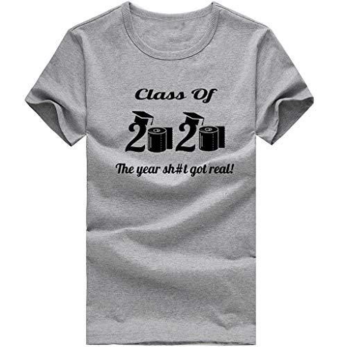 Xinantime Basic T-Shirts 2020 Quarantined Toilet Paper Seniors Shirt Unisex for Women Men Casual Tee (a-Gray,L)