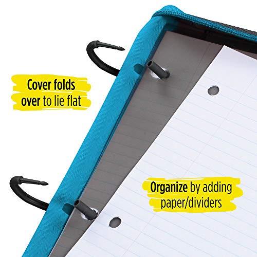 Five Star Flex Hybrid NoteBinder, 1 Inch Ring Binder, Notebook and Binder All-in-One, Teal (73420) Photo #5