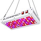 BLOOMSPECT Reflector Series 600W LED Grow Light Full Spectrum for Indoor Plants Veg and Flower with Veg/Bloom Switch & Daisy Chain (60pcs 10W LEDs)
