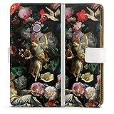 Étui Compatible avec Huawei Y7 2017 Étui Folio Étui magnétique Peinture Eglise Fleur