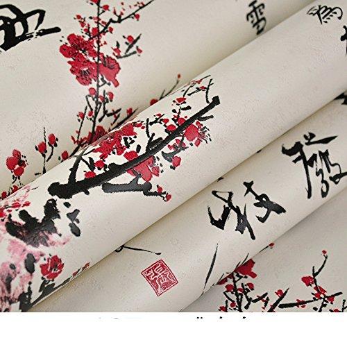 Chinoiserie-tapete Kalligraphie Tapete Muster Gedichte Teehaus Neoklassizistischen Stil Tapete-B