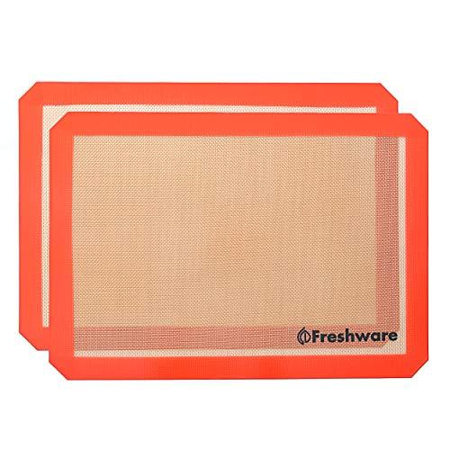 Freshware bm-10111,6von 8,1Zoll Silikon Antihaft-Backmatte mit Schnitt Ecke 2er-Pack M (2 Pack) merhfarbig