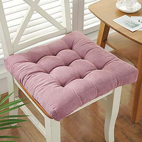 GJBHD Thicken Booster Cushion,Anti-Slip Floor Cushion Square Solid Color Chair Pad Cushion for Home Office Dinning Chair-d 40x40cm(16x16inch)