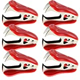 WEKOIL Staple Remover Staple Removal Tool for School Office Home Pack of 6,Red