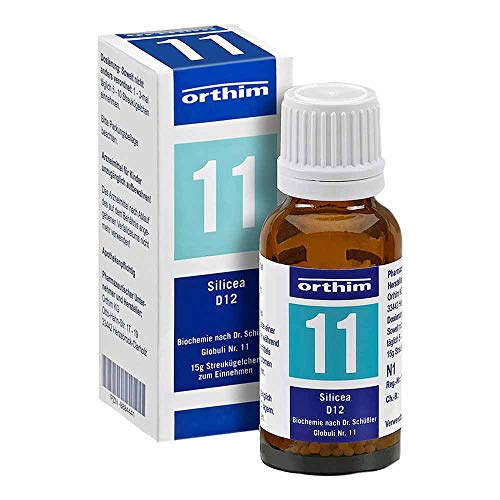 orthim 11 Silicea D 12 Biochemie nach Dr.Schüßler Globuli, 15 g Globuli