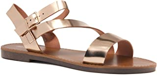 Marinna Women's Open Toes Ankle Strap Flat Sandals