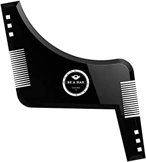 SSXY Beard Shaping & Haircut Tools - Hairline Lineup Edge up Template Set - Stencil Guide for Trimming Beard, Mustache, Go...