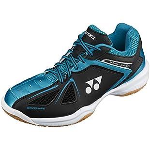 Yonex Men's Power Cushion 35  Badminton Shoes, Black/Blue, UK 9:Labuttanret
