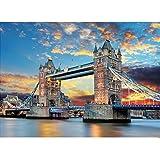 GuDoQi Puzzle 1000 Piezas Adultos Rompecabezas Puente De Londres para Infantiles Adolescentes