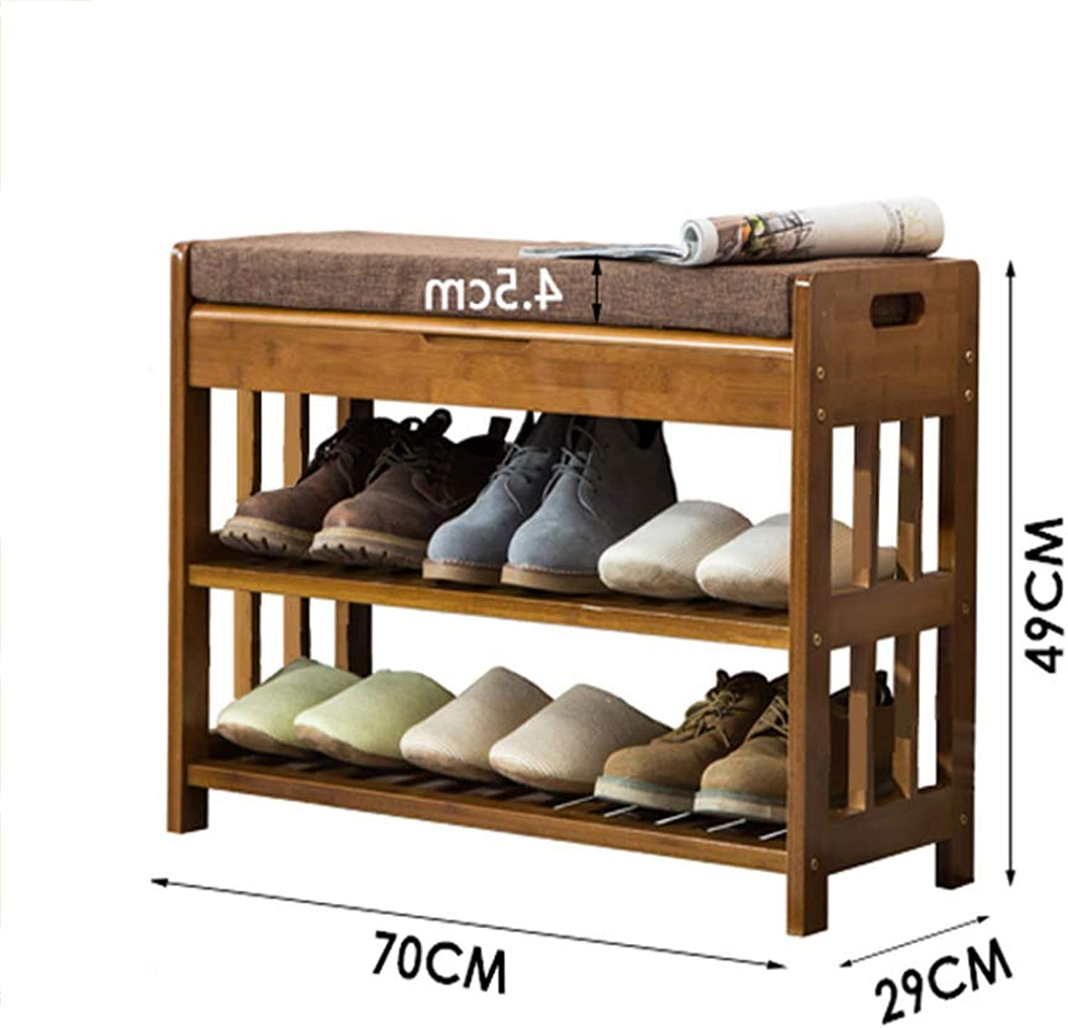 ZR Change The shoes Bench, shoes Cabinet\storage Stool Multifunction Storage shoes Rack Sofa Stool  Wall decoration (Size   C70X29X49cm)