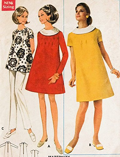 Butterick 4801 Misses Maternity Dress or Top with Tucks Sewing Pattern Size 12 Bust 34 Vintage