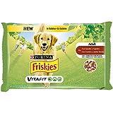Friskies PURINA Húmedo Perros Botes de gelatina con Cordero y faisanes - 40 Sobres de 100 g Cada uno (10 Unidades de 4 x 100 g)