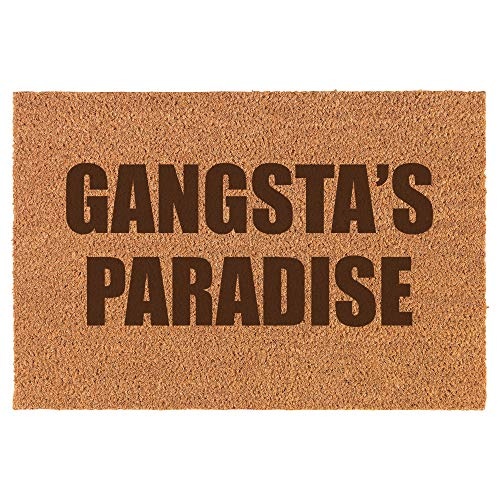 Daylor Coir Entry Doormat Door Mat Funny Gangsta's Paradise Block
