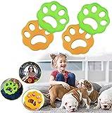Lote de 4 bolas antipelos de animales, herramientas de limpieza, para lavadora, atrapa los pelos, polvo y desechos que se pegan a la ropa