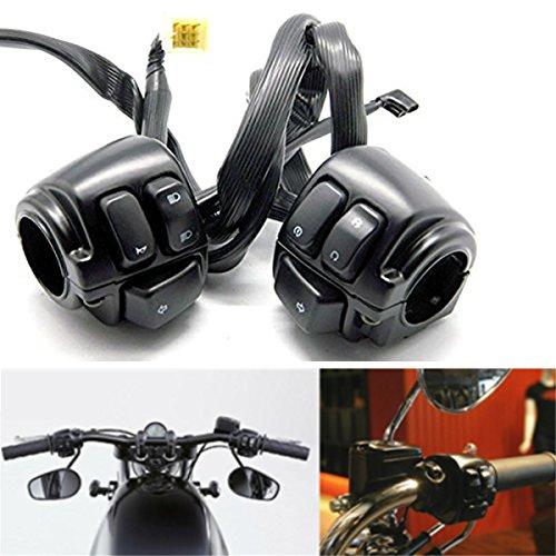 Paar 25mm Motorrad Horn Blinker Lenkerschalter Lenkerhorn Blinker Steuerschalter für Harley