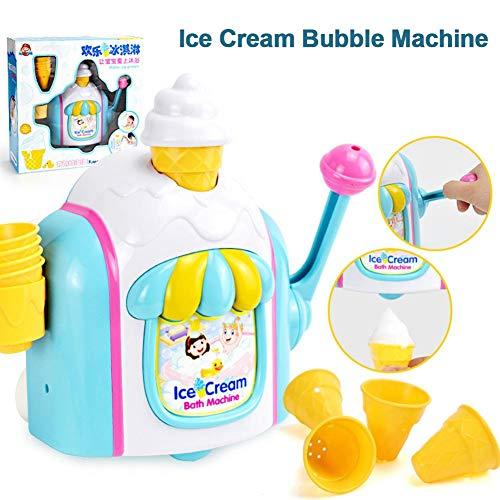 Molare Bébé Bain crème glacée Machine à Bulles Salle de Bain Jouets de Bain Bulles crème glacée Fabricant Mousse Usine de Baignoire Jouets pour Plus de 4 Ans