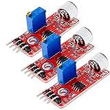 AZDelivery 3 x KY-037 Micrófono detección de Sonido de Alta sensibilidad módulo Grande para Arduino